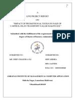 Fina Live Project Report