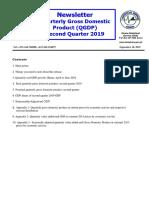 Newsletter Quarterly GDP 2019 _Q2_September 2019 Edition
