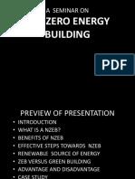Seminar on Net Zero Energy Building