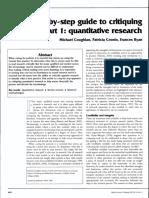 Critiquing Quantitative Analysis