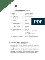 Silabos Farmacia Química I-2019 II Semestre b Jueves y Sabado