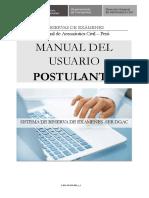 Manual Usuario Postulante piloto rpas