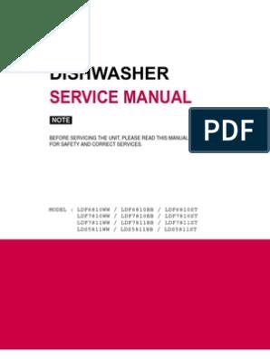 LG - DW - LDF6810 Service Manual   Dishwasher   Manufactured