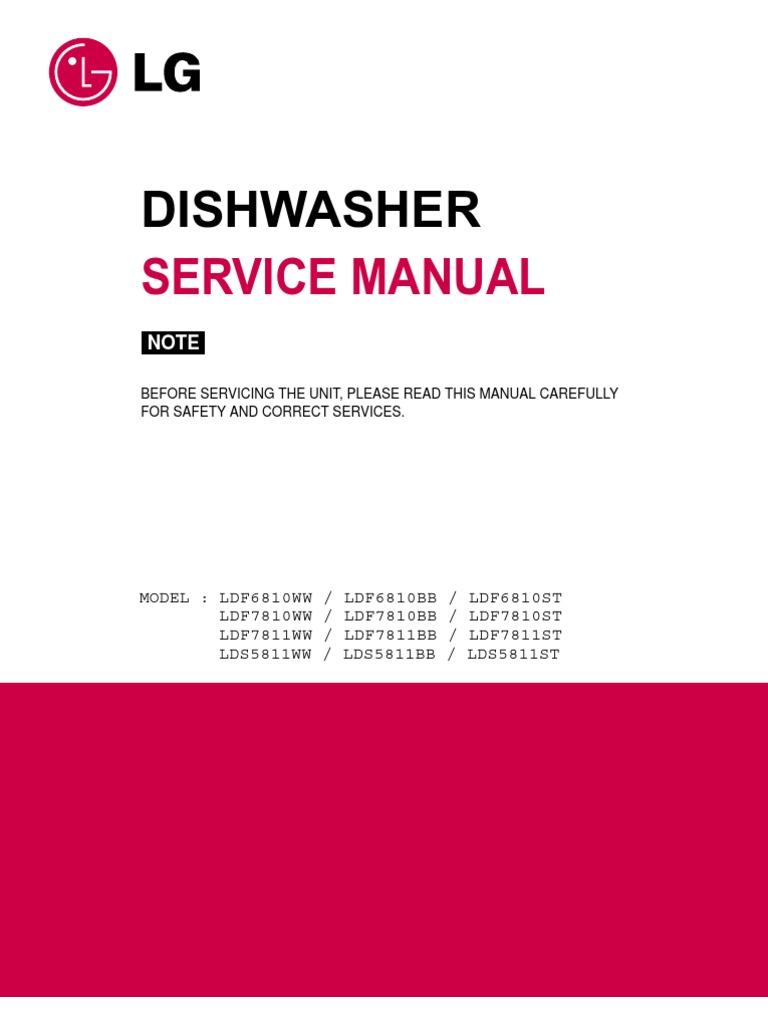 dishwasher manual diy plumbing fault finding repair and maintenance