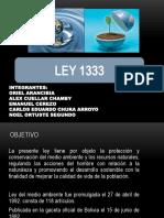 LEY 1333 Del Medio Ambiente