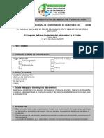 Formulario de acreditación de prensa