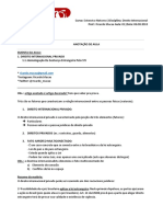 Resumo- Direito Internacional - Aula 01 - Direito Internacional Privado - Ricardo Macau2