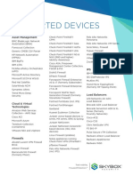 Datasheet Supported Devices