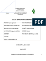 Programa Analisis de Productos Agroindustriales
