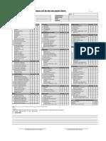 Check List de Pre Uso Equipo Movil FS-18