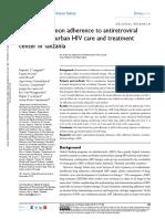 Dhps 143178 Predictors of Adherence to Antiretroviral Therapy at an Urba 082018