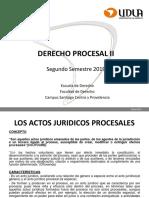 Los Actos Juridicos Procesales Primera Parte
