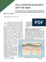 Monitorización y Control de La Corrosión en La Generación de Vapor