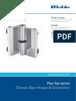 Plan Flat - Shower Door Hinges