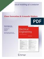 EE Springer 2017 Sorrentino Maduro Modeling of DC Contactor