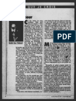 Ce que je crois - Ben Ali - Bourguiba - Jeune Afrique du 18 novembre 1987
