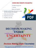 Decision Making Under Uncertainty- Final