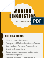 Structuralism - BS 1 and MA 1 Linguistic