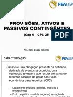 06 EAC - Cap 6e7 - Provisões Ativo e Passivo Contingente