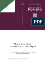 Romero Cuarta Carta Pastoral