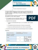 Evidencia Diagnostico Técnicas e Instrumentos de Evaluación