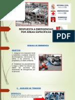 Capacitación. Respuesta a Emergencias Por Áreas Específicas