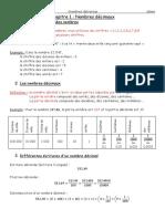 Cours Chpt1 6ème Maths