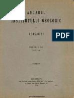 Anuarul Institutului Geologic Al României, Volumul 05, Fascicula 1, 1911