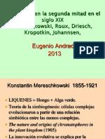 BIO S. XIX (3) Mereschkowski, Roux, Driesch, Kropotkin, Johansenn
