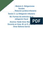 Formas de extinción de la obligación fiscal