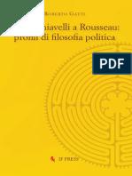 Da Machiavelli a Rousseau