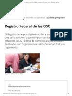 Registro Federal de Las OSC