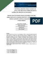 Produção de Material Didático Para o Ensino de Libras a Distância Uma Discussão Sobre Desafios e Superações Didáticas e d