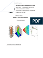 Diploma Thesis Numerical Modeling of Porous Burners