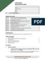 QMS 065 Manufacturing Rework Procedure Sample