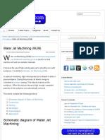 Water Jet Machining (WJM) « Mechteacher.com