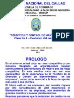 Clase 1 Direccion y Control Del Mantenimiento