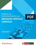 MANUAL DE INTERVENCIÓN PARA BRIGADAS MÓVILES URBANAS (2019)