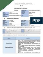 Ejemplo de Plan de Adecuacion Curricular Individual