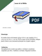 Canon Biblia