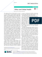 Introduction to Ethics and Global Health