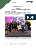 06-09-19 Van alumnas sonorenses por un premio nacional y se traen sede para 2020