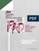 Convocatoria FAD.2019