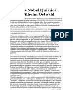 Premios Nobel Química 1909 Wilhelm Ostwald Sesion 4