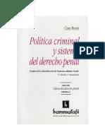 028.- Politica Criminal Y Sistema Del Derecho Penal - Roxin, Claus.pdf