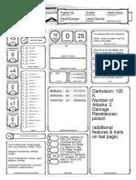 Character Sheet - Duergar