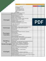 Cronograma ENEM - Biologia