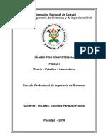 Silabo Fisica i 2019-II