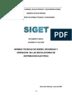 Normas Técnicas de Diseño, Seguridad y Operación de Las Instalaciones de Distribución Eléctrica
