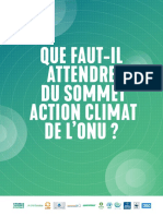Que faut-il attendre du sommet action climat?